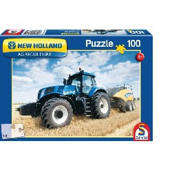 PUZZLE TRACTEUR NEW HOLLAND + PRESSE BALLE ROUNDE 1290
