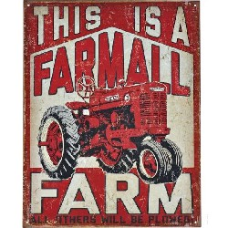 Jouet plaque étain/acie Farmall (This is an Farmall Farm) 315x405