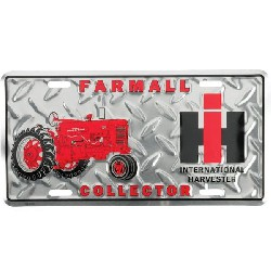 Jouet plaque aluminium Farmall collector 150x300