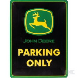 plaque JD Parking only